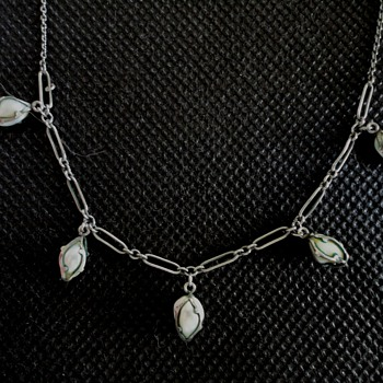Barroque pearl silver necklace by Rodi & Wienenberger of Pforzheim c. 1900