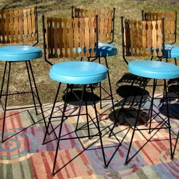 Mid-Century Modern Bar Stools