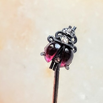 Tiniest ladybug antique stick pin!