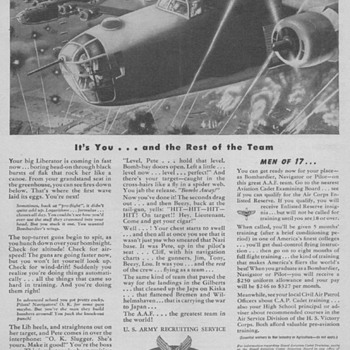 1944 - Army Air Force Recruitment Advertisements - Advertising