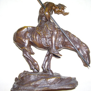  &quot;ENESCO&quot;    END OF THE TRAIL STATUE