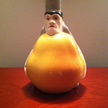Pear Man Ceramic Bottle