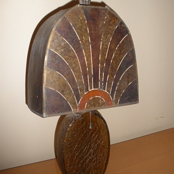 Art Deco Mica Lamp - Art Deco