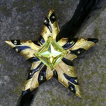 Cindy Adams Star Brooch - Costume Jewelry