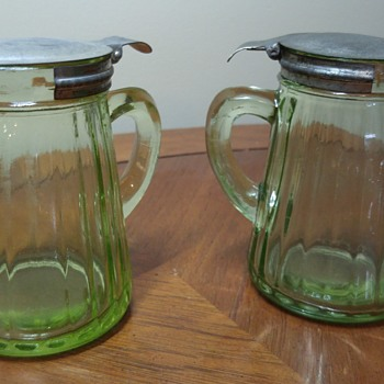 Pair of Syrup Pitchers