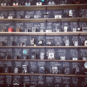Vintage Camera Collection Wall - Cameras