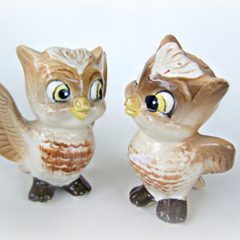 ShakeThatThang Adorable Baby Owls Salt and Peppers - Animals