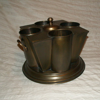French Brass (4) Wine Bottle Cooler ~ Williamson Designs - Kitchen