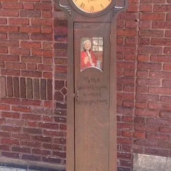 My Grandfather Clock -Tyme waiteth upon no man Help Yourself
