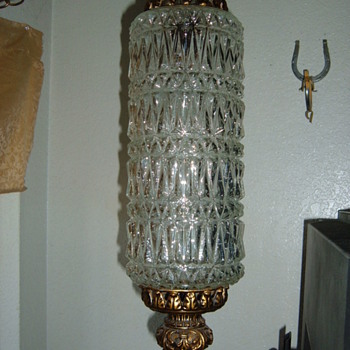 crystal or pressed glass swaglight chandelier