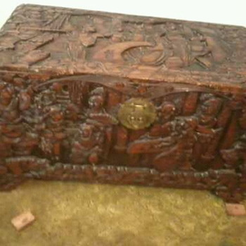 Hand carved Rosewood Chinese chest circa 1880