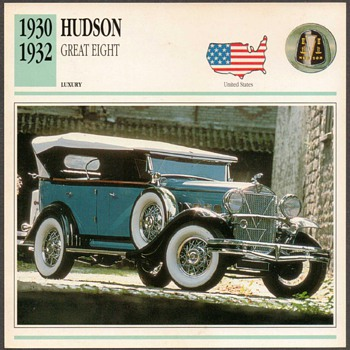 Vintage Car Card - Hudson Great Eight - Cards