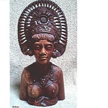 "Balinese ""Djanger"" Dancer Bust /Part Two ""Make Over Complete"""
