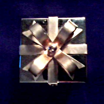 """Good Things Come in Small Packages"" / Tiny Silver Gift Box / Silver and Gold Ring Assortment - Fine Jewelry"