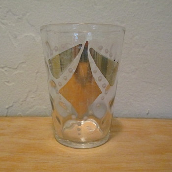 EAPG Inverted Thumbprint Tumbler with gold flash