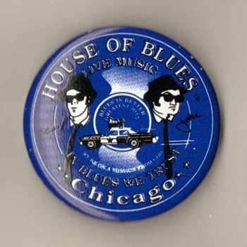 """House of Blues"" Pinback - Chicago - Medals Pins and Badges"