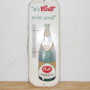 Cott's Ginger Ale Thermometer - Advertising