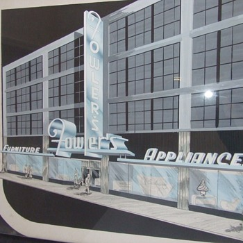 Neon Sign Artist rendition c. 1950 - Signs
