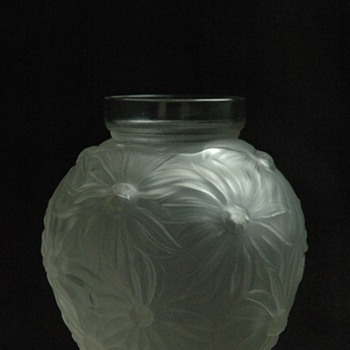 "french art deco glass vase "" VASE AUX TOURNESOLS "" by EDMOND ETLING"
