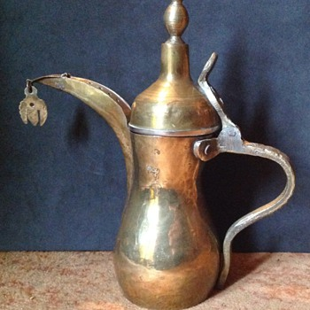 2 Traditional Gulf brass Dallah coffee pots.