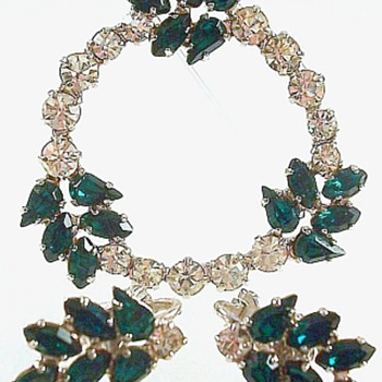 B. David Emerald Green Parure - Costume Jewelry