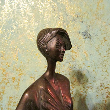 Art Deco bronze of a woman . My new purchase :-) - Art Deco