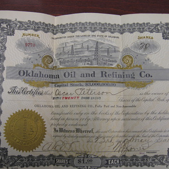 Help me find out some history on the Stock Certificates!!!
