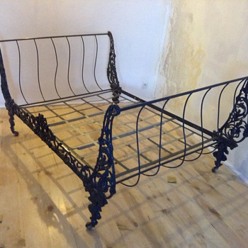 Steel antique French bed