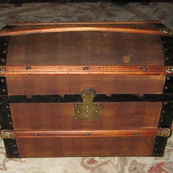 Unique Antique Doll Trunk