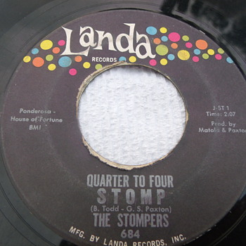 "1962 The Stompers ""Quarter To Four Stomp"" 45rpm - Records"