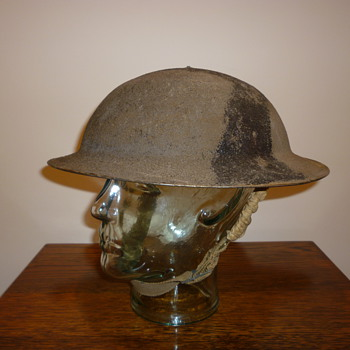 British WWII 8th Army desert cammo helmet.