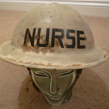 WW11 Royal Air Force Nurses helmet - Military and Wartime