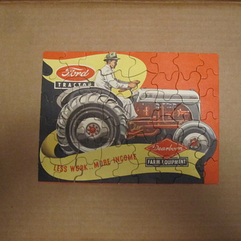 Vintage Ford Tractor Puzzle