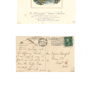 1924 New Year's Postcard