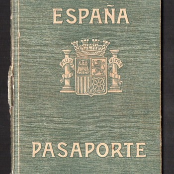 Spanish Civil War Era Passport - ca 1938. - Paper