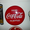 1960's Drink Coca Cola In Bottles Bullseye Porcelain Sign