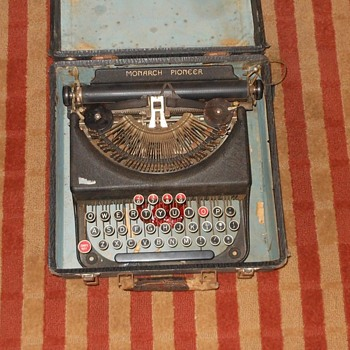 Monarch Pioneer Portable Typewriter with Case