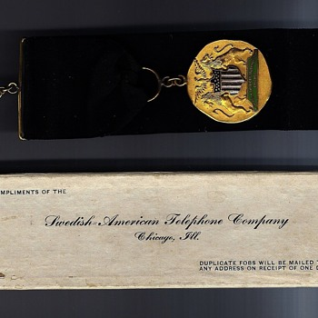 Swedish-American Telephone Company Watch Fob - Telephones