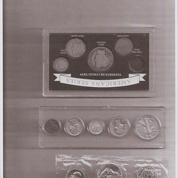 1945 and 1956 coin sets includes Franklin 1/2 dollar