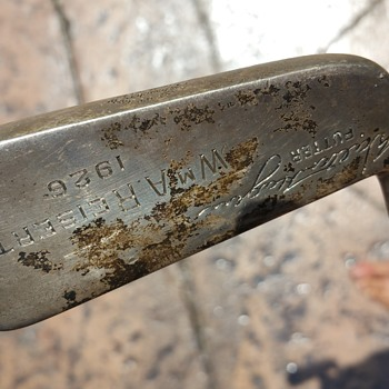 Sterling silver 1926 Walter Hagan golf putter