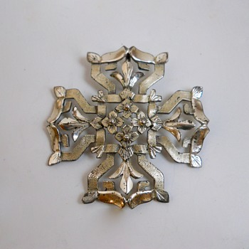 "Silver Sterling Cross ""Creed"" Canada, 20 Century - Fine Jewelry"