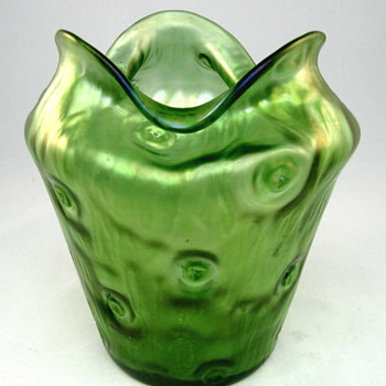 Loetz Art Glass Vase circa 1900 Creta Rusticana  - Art Glass