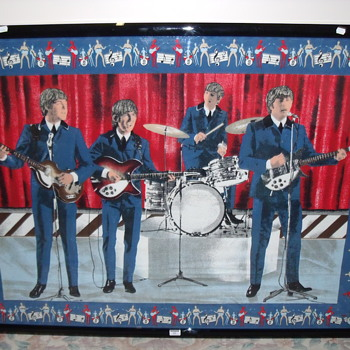 BEATLES VELUM CLOTH only 5 ever made this used to hang in Brian Epsteins office - and Michael Jackson's office + Gold Disk -