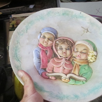 Holland Mold 3 girls plate signed Betty Goodwin