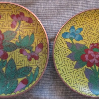 Asian Cloisonne Dishes - Asian