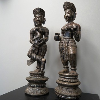 AWSOME METAL CLAD FIGURES FROM INDIA