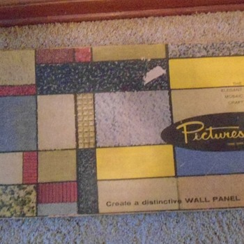 General Craft Co 1963 Mosaic Kit for wall Pictures   - Mid-Century Modern