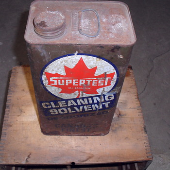 Supertest all Canadian metal can. - Petroliana