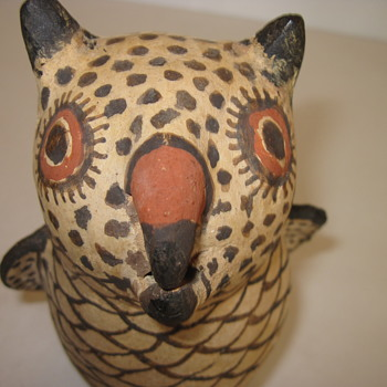 Zuni Owl Effigy Pottery and Tuseque Rain God; What are Ages??