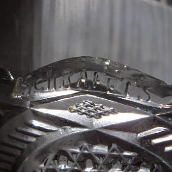 Schrafft's Chocolates Pressed Glass Dish - Glassware